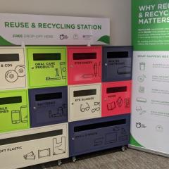 Recycling hub at the University of Queensland