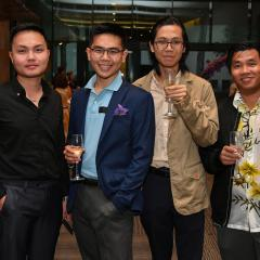 UQ students enjoying themselves at the 2020 Bloom networking event